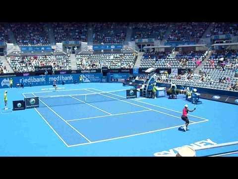 María José Martínez Sánchez ante Serena Williams en el WTA de Sídney
