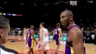 Find all NBA Referees Wired videos on http://nba-referees-wired.com/Hear how NBA referees, including Mike Callahan, Danny Crawford and Zach Zarba communicate with NBA basketball players and NBA coaches.See The Lakers' Kobe Bryant discuss a call with NBA referees Mike Callahan, Zach Zarba talking to Anthony David, and Steve Javie changing a bad call on Kobe Bryant into a good call.The Lakers' Gary Payton gets a technical foul for pushing Kevin Willis.Finally, The Bucks' Sam Cassell tries to sweet talk NBA referee Danny Crawford, but it doesn't work.