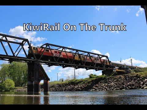 KiwiRail On The North Island Main Trunk - 10/10/2014 (HD)