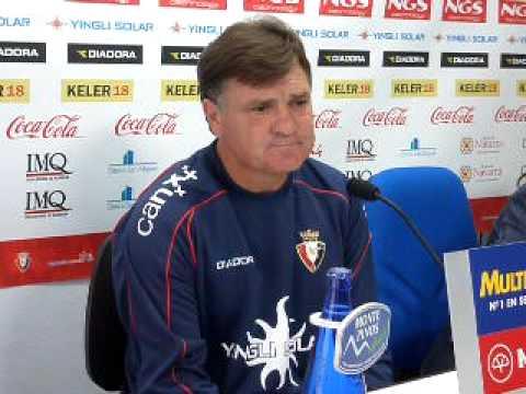 Camacho hablando del emparejamiento de Copa Xerez-Osasuna