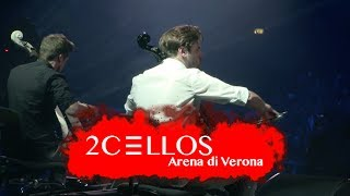 http://www.facebook.com/2Celloshttp://www.instagram.com/2cellosofficial 2CELLOS Luka Sulic and Stjepan Hauser performing Resistance by Muse at their historical 5th anniversary concert at Arena di Verona, May 2016Filmed by MedVid produkcijaDirected by Kristijan BurlovicVideo editing by Stjepan Hauser & Ivan StifanicSound by 2CELLOS, Miro Vidovic & Filip VidovicLighting design by Crt Birsa