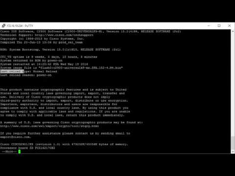 Cisco show version command explained