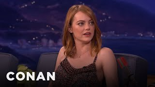 Video Emma Stone Is Obsessed With K-Pop  - CONAN on TBS MP3, 3GP, MP4, WEBM, AVI, FLV April 2018