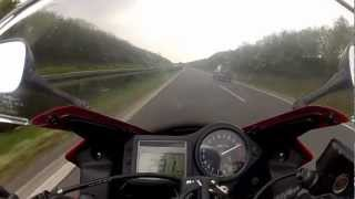 7. TOP Speed Honda CBR 600 on German Autobahn