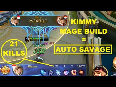 Kimmy Full Mage Build SAVAGE Gameplay (Better Marksman / Magic Item..?) Mobile Legends