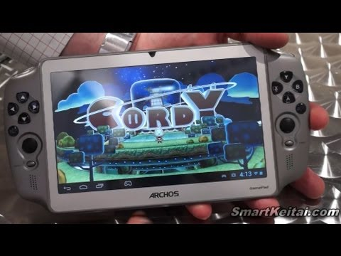 ARCHOS GamePad Android Jelly Bean Gaming Tablet Demo (CES 2013)