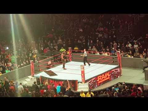 Kane vs braun strowman after raw went off 12/18/2017
