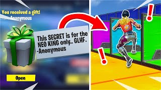 This Deathrun has a SECRET for the NEO KING only... • • •  (Fortnite Creative)
