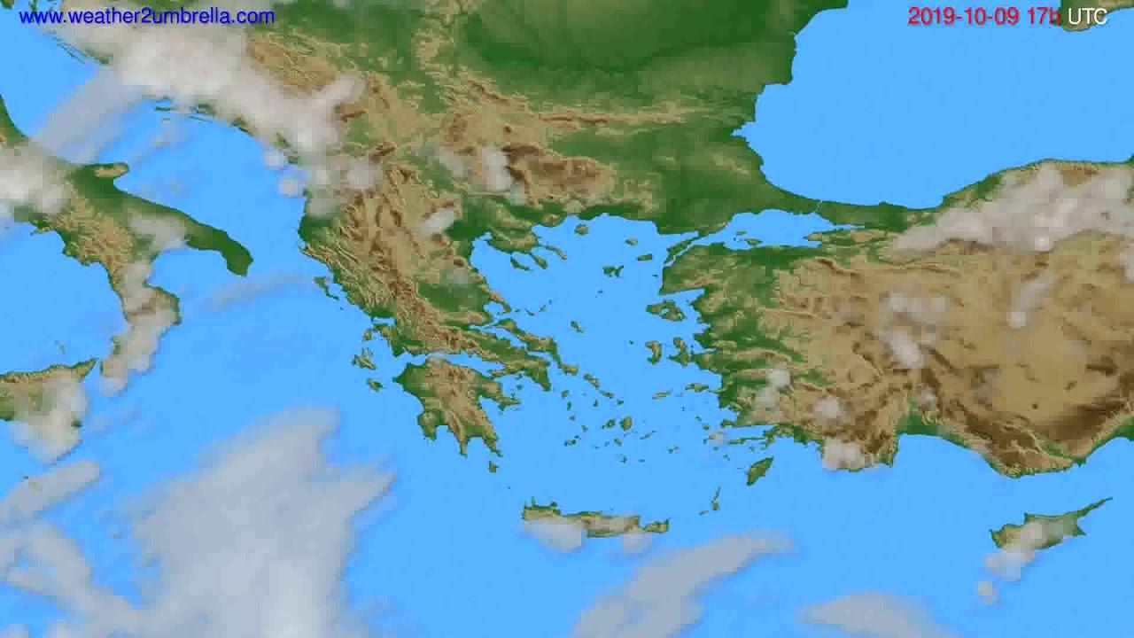 Cloud forecast Greece // modelrun: 00h UTC 2019-10-08