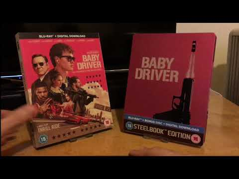 Blu Ray Face Off #14 Baby Driver (2017) Amaray/Slip Cover Vs. Steelbook.