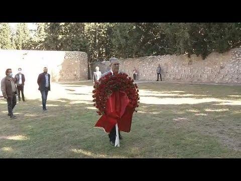 Στεφάνι στο Σκοπευτήριο της Καισαριανής κατέθεσε ο γγ της ΚΕ του ΚΚΕ