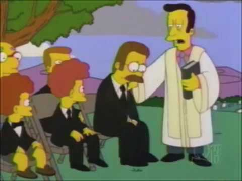 The Simpsons: Maude Flanders Death Scene + Funeral