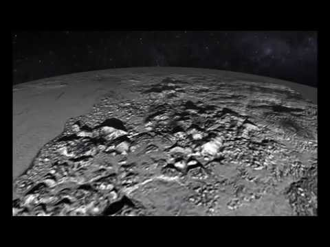 Animated Flyover of Pluto  s Icy Mountain and