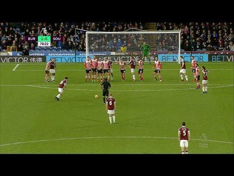 Video: Joey Barton's goal helps Burnley past Southampton