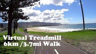Bulli Australia  city photos : Virtual Treadmill Walk - Bulli Beach, NSW Australia - 6km / 3.7mi (With Sound)