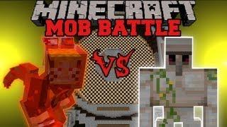 Iron Golem Vs. Kyuubi - Minecraft Mob Battles - Arena Battle- OreSpawn Mod