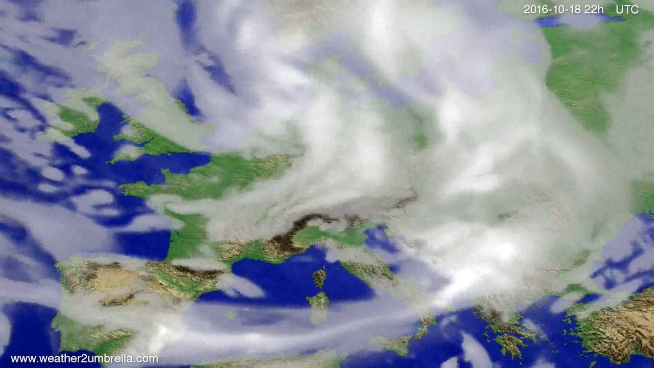 Cloud forecast Europe 2016-10-16