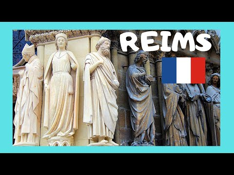 REIMS (FRANCE), the magnificent CATHEDRAL (Notre-Dame de Reims, Our Lady of Reims)