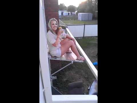 Drunk Chick Vs. Window Awning