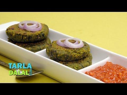 Spinach and Chana Kebab (Diabetic-friendly Recipe) by Tarla Dalal