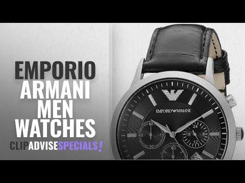 10 Best Selling Emporio Armani Men Watches [2018 ]: Emporio Armani Men's AR2447 Dress Black Leather