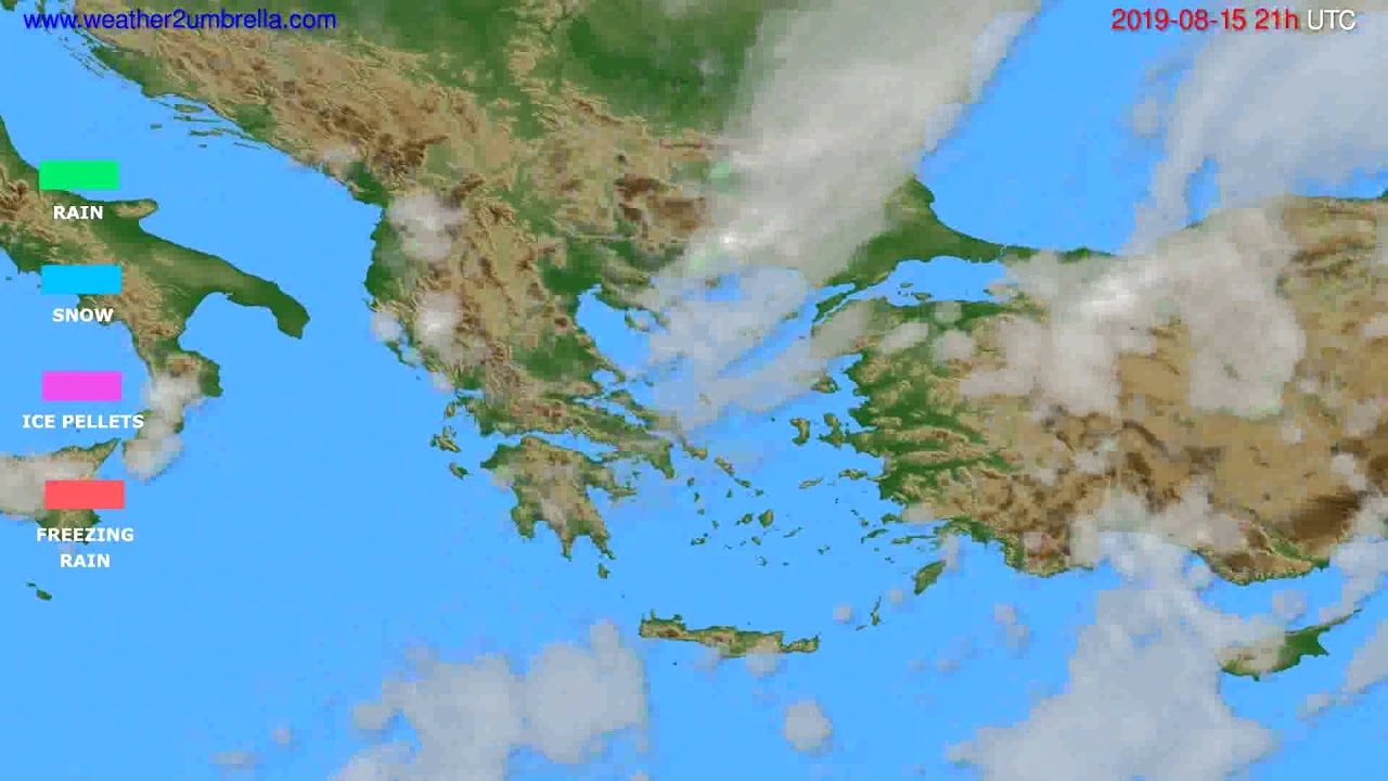 Precipitation forecast Greece // modelrun: 00h UTC 2019-08-14