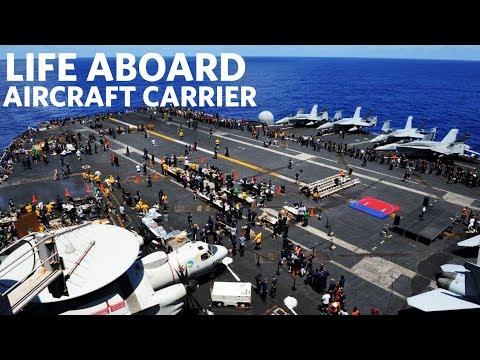 USS Gerald R. Ford (CVN 78) Flight Deck Activity | Life Aboard Aircraft Carrier
