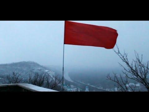 Неизвестные установили красный флаг у памятника Артёму в Святогорске