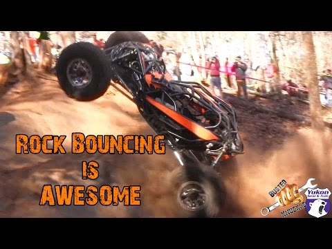 bouncing - DVDs & APPAREL - http://www.bustedknuckle.com Check out the Insane Sport of Rock Bouncing as drivers take their custom tube chassis creations to all new heig...