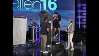 Video Ellen Shocks Andy to the Core with a Surprise Cryotherapy Session MP3, 3GP, MP4, WEBM, AVI, FLV Oktober 2018