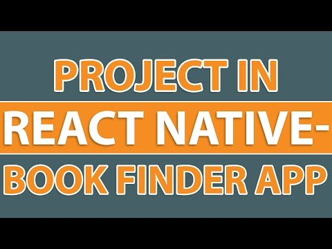 Project in React Native | Create A Book Finder App
