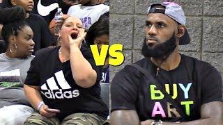 Video LeBron James Jr SHUTS UP Heckler! USBA Nationals 2018 MP3, 3GP, MP4, WEBM, AVI, FLV Maret 2019