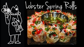Vietnamese Fresh Lobster Spring Rolls