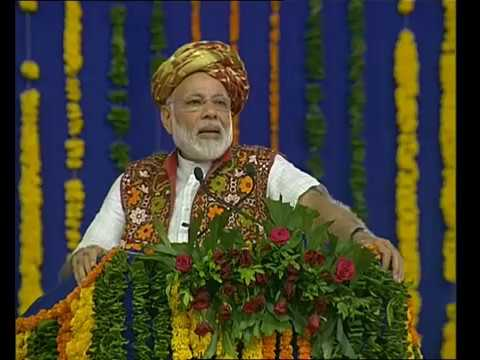 PM Modi's Speech at Inauguration of Narmada Canal Pumping station in Bhachau, Gujarat