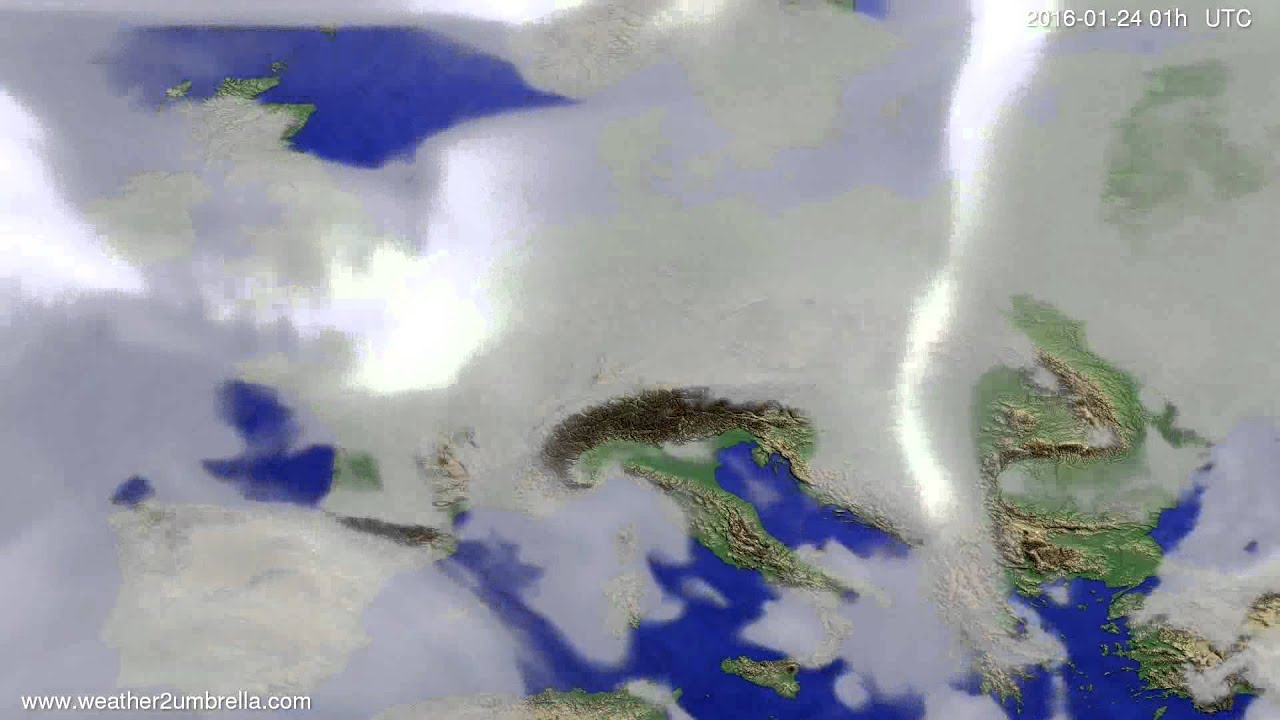 Cloud forecast Europe 2016-01-21