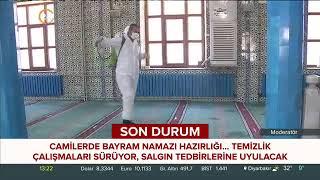 Cami Temizlik Çalışmaları - 24 Tv