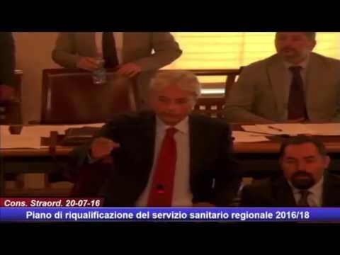 Sanità Abruzzo, l'intervento di Chiodi in consiglio VIDEO