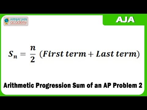 Mathematik Arithmetik Progression Sum eines AP Problem 2