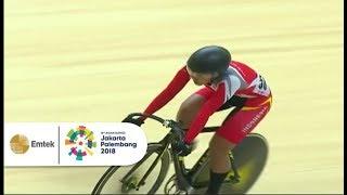 Video KEREEN! Crismonita Dwi Putri Berhasil Kalahkan Saingannya di Balap Sepeda Track | Asian Games 2018 MP3, 3GP, MP4, WEBM, AVI, FLV Desember 2018