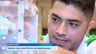 Sorocaba: testes com protótipo de respirador