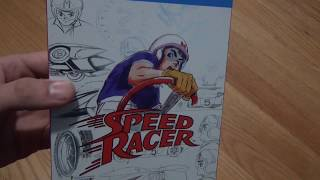An unboxing of Speed Racer The Complete Series on Blu-Ray.