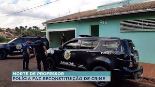 Polícia faz reconstituição da morte de professor universitário