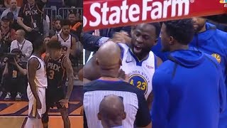 Draymond Gets Taunted By Kelly Oubre Jr.  & Gets Angry With The Ref Then Gets Ejected!