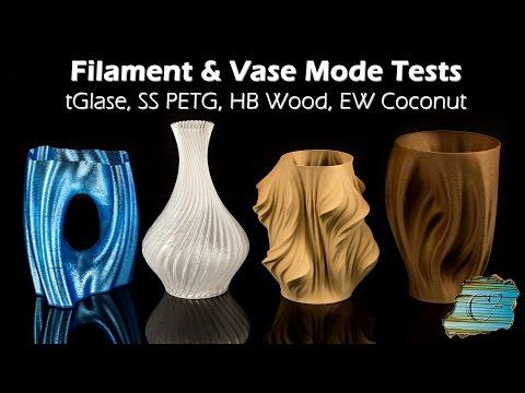 Filament Test & Vase Mode  (Wanhao i3 Plus/Maker Select Plus)