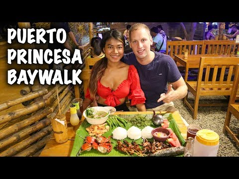 Filipino Street Food Tour - Baywalk Puerto Princesa Palawan Philippines