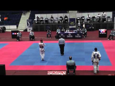 54kg Quarterfinal Tortosa Cabrera,Jesus (ESP) vs (GEO) Paksashavili, Badri (-21 ETU TKD Champ. 2015) (видео)