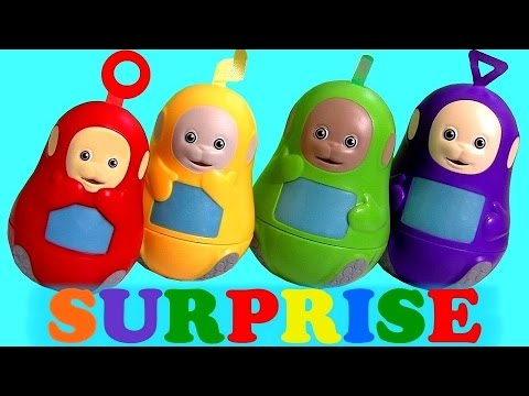 surprise - This is the Teletubbies Stacking Cups Surprise with Tinky Winky Dipsy La-La and Po. I'm also Unboxing Chocolate Surprise Eggs from Disney Frozen Marshmallow Snowman, Shopkins Season2 ...