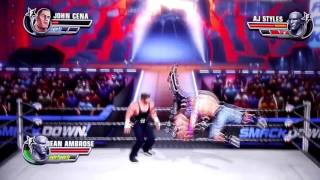 John Cena Vs Aj Styles (c) Vs Dean Ambrose - WWE No Mercy 2016 (WWE World Championship Match)