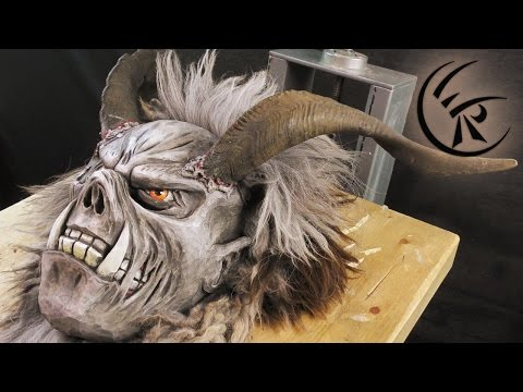 Finishing a Krampus Mask ►► Timelapse