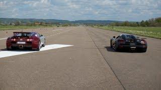 RACE Koenigsegg Agera S vs Bugatti Veyron 16.4 x 5 races action version multicamera